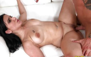 Savory latin diva Nikki Lima is fucking a man and sucking his giant dinky