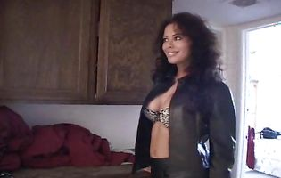 Magnificent latina brunette honey Olivia got a nice caress from buddy and then they had sex