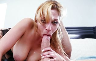 Mesmerizing Jazmyn absolutely gives this guy her best blowjob ever