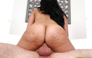 Hypnotic Ada Sanchez takes a huge cock in between buttocks