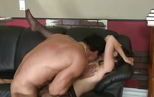 Evie Delatossa is pleasantly surprised by her hubby's hung friend