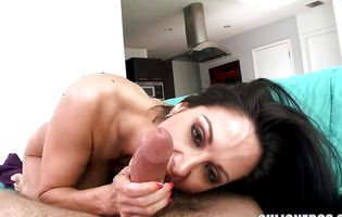 Kinky busty latin brown-haired Ava Addams is aroused and eager to fuck her lover