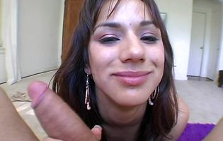 Aroused brown-haired sweetie Nadia Styles enjoys having her twat smashed wildly