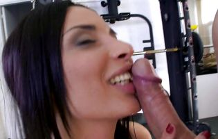 Overwhelming latin brown-haired Anissa Kate gladly shows her alluring slit