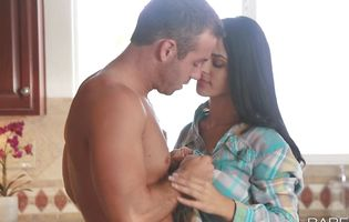 Stupefying big boobed latin Jasmine Caro receives a hard donga in her wet cuch
