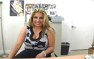 Cunning blond latina Rocio Marrero fucking her aroused fuckmate previous to she cums strong