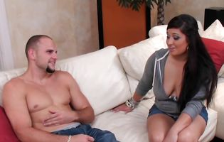 Pleasant Cristal Nicole is having casual sex with a male who just discovered her